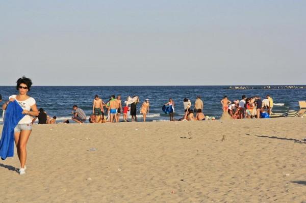 Pe plaja din Mamaia