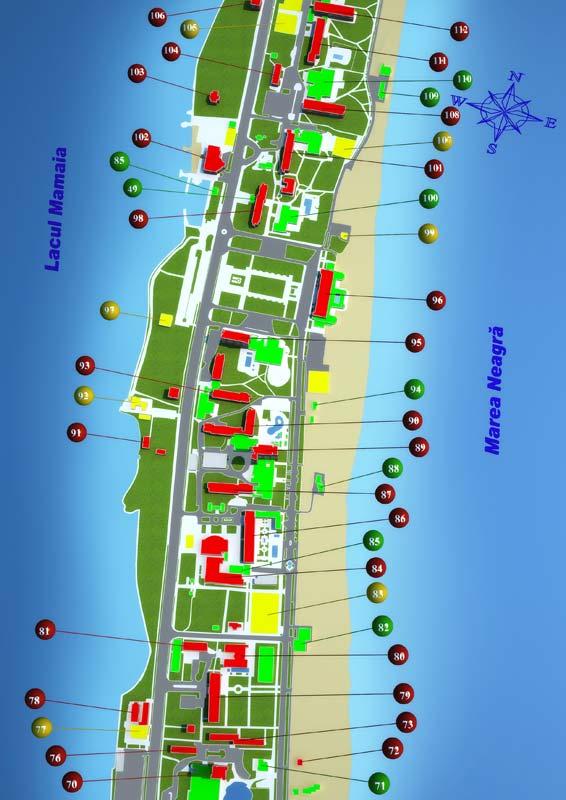 Harta Mamaia Pozitionarea Hotelurilor Pe Harta