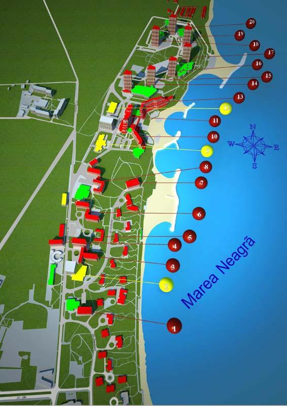 Harta Neptun Olimp Pozitionarea Hotelurilor Pe Harta