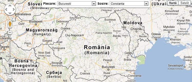 Harta Rutiera Prin Satelit