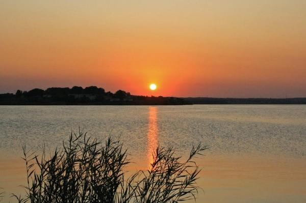 Apus de soare ... Lacul Suitghiol