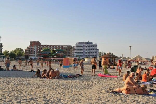 Plaja din capatul statiunii Mamaia