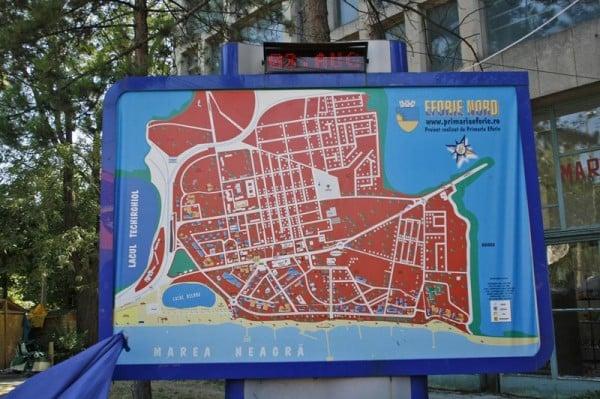 Harta statiunii ... Eforie Nord