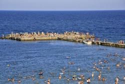 Oameni pe plaja ... Eforie Nord