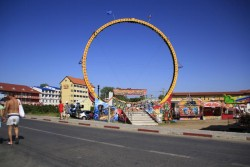 Roata din parcul de distractii din Costinesti