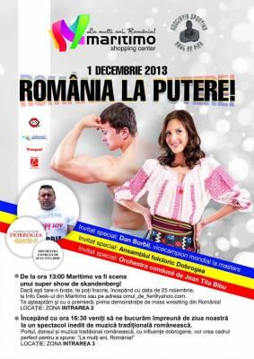 "De 1 Decembrie, constantenii  vor sa arate ca ""Romania e la putere!"""